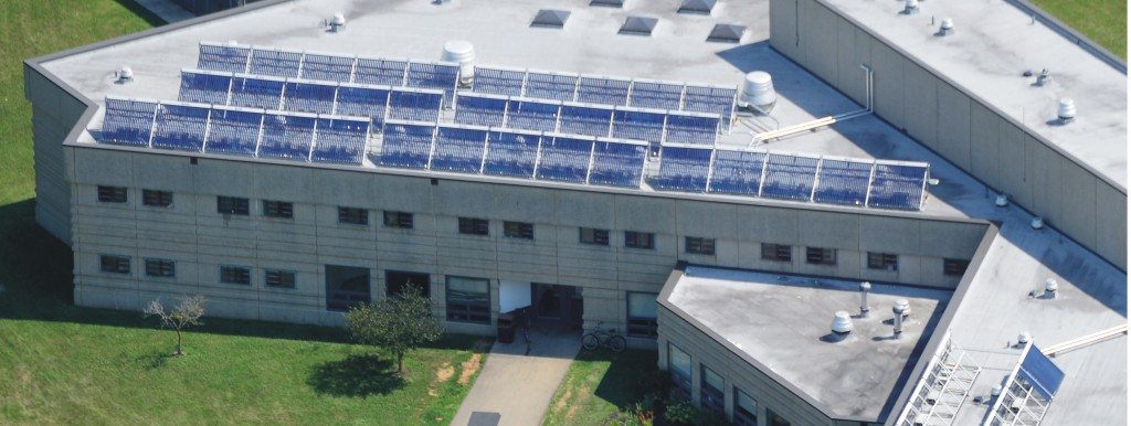 50 SunQuest 250 Collectors installed on the roof of a cell block at Ross Correctional Facility in Chillicothe, OH