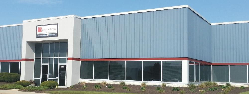 CORPORATE HEADQUARTERS – Indianapolis, Indiana:  Solar America Solutions' headquarters building in Indianapolis houses our executive offices, training center, R&D laboratory, and warehouse.